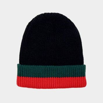 Color Block Beanie Hat (Click For More Colors)