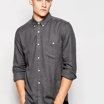 French Connection Plain Flannel Shirt at asos.com