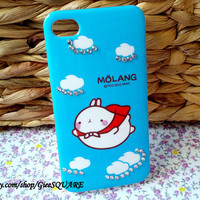 Lovely RABBIT, FLYING In The SKY - iPhone 4 Case, iPhone 4s Cover
