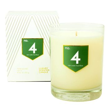 No. 4 Rain Water Bamboo Scented Soy Candle