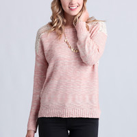 Sweet Tooth Crochet Detail Sweater