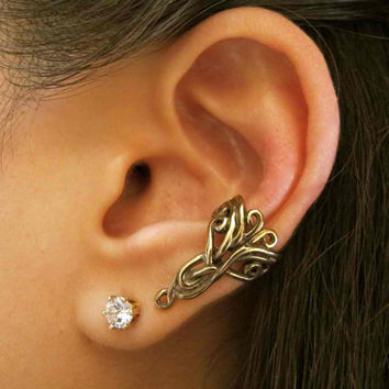 Bronze Arabesque Ear Cuff by martymagic on Etsy