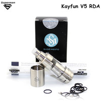 Newest RDA Kayfun v5 1:1 Clone atomizer vs kayfun mini v3 with airflow control rebuildable big vapor tank 316 stainless steel