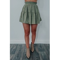 Ready For Anything Skirt: Olive
