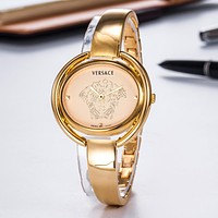 """Versace"" Newest Stylish Women Men Chic Movement Quartz Watch Wristwatch Golden"