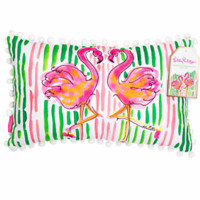 Lilly Pulitzer Medium Pillow-Flamingo