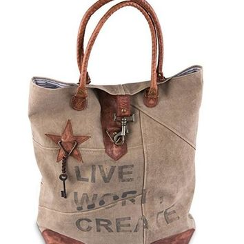 Live Work Create Tote Bag