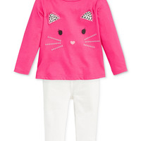 First Impressions Baby Girls' Kitty Top & Ribbed Jeggings