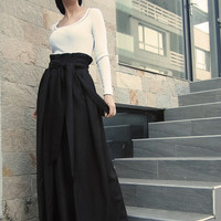 Long Skirt/Wool Skirt/ Dark Brown Skirt/Winter Skirt/Maxi Skirt/Woman Skirt by CARAMEL fs  S-1015