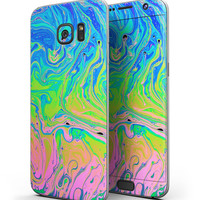 Neon Color Swirls - Full Body Skin-Kit for the Samsung Galaxy S7 or S7 Edge