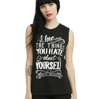 Panic! At The Disco Hallelujah Girls Muscle Top