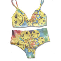 Tie Dye Smiley Swirl Panty Set