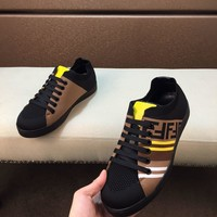 Fendi Men Fashion Boots  fashionable casual leather  Breathable Sneakers Running Shoes Sneakers
