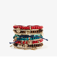 FOREVER 21 Warrior Bracelet Set Gold/Multi One