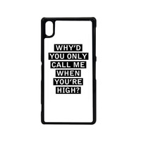 Personalised AM song lyrics Sony Xperia Z2 Case