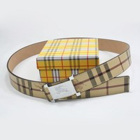 Perfect BURBERRY Woman Fashion Smooth Buckle Belt Leather Belt Tagre™