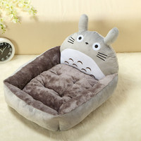 5 Styles Cute Cartoon Design Pet Puppy Bed Cushion House Kennel Warm Soft Flannel Cat Dog Beds/Mats Animals Supplies