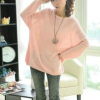 SALE New Womens Lady Knit Pullover Loose Knitwear Sweater Long Sleeve Top jumper
