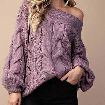 Frost & Ash Sweater in Lavender