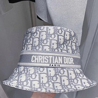 Christian Dior embroidered pattern letters Bucket hat Cap
