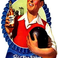 Pabst Blue Ribbon Beer PBR Poster 11x17