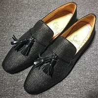 Christian Louboutin CL Loafer Style #2380 Sneakers Fashion Shoes Online
