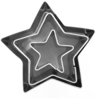 Mini Inox Star Cutters 3 Pack