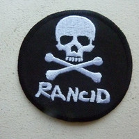 Rancid Iron On Embroidered Patch Punk Rock Metal Band Music Patches