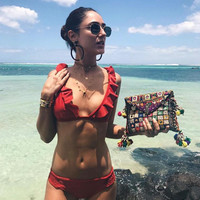 2017 Swimsuit Summer New Arrival Sexy Swimwear Red Bikini [11061058319]