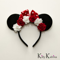Minnie Mouse Ears Inspired Headband, LED Headband, Mouse Ears Headband, Minnie Ears, Disney Bound, Disney Headband, Disney Cosplay