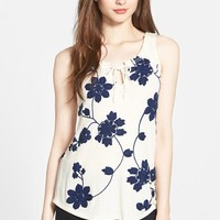 Women's Lucky Brand Soutache Embroidered Tank,