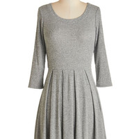 ModCloth Short Length Long Sleeve A-line Out for the Day Dress