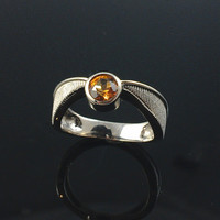 Harry Potter Golden Snitch Engagement Ring - 18k White Gold - Geeky Wedding Rings