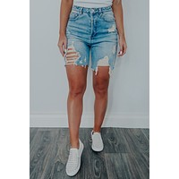 Too Many Times Shorts: Denim