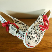 New Old Stock Mickey Mouse Vans,  Vintage Disney Vans, Disney Skater Shoes, Women's Size 7