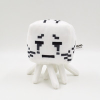 Minecraft Ghast White Plush Toys Cute Plush Dolls Cartoon Game Soft Cotton Stuffed Animals Spider Cow Ghost Toys Kid Birthday Halloween gift