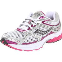 Saucony Women`s Pro Grid Stabil CS2 Running Shoe,White/Silver/Pink,9.5 M US