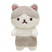 Oh Nyachi Grey and White Cat 7 inch Plush