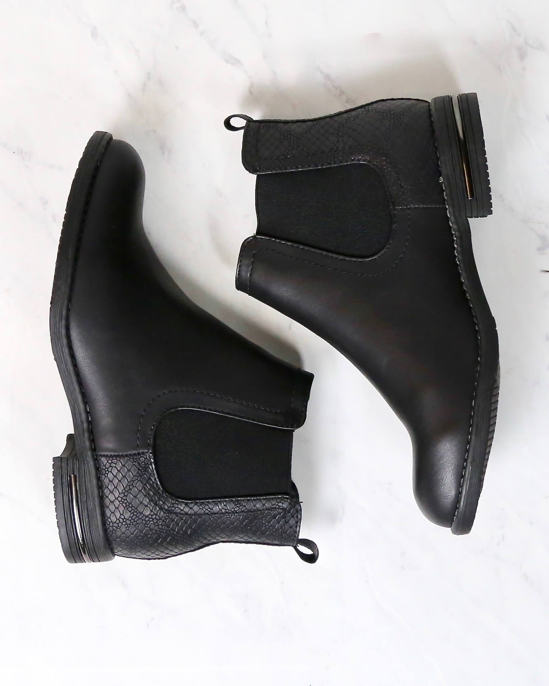 Image of Final Sale - Chelsea Ankle Boots in Black