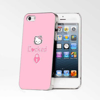 Hello Kitty Locked iPhone 4s iphone 5 iphone 5s iphone 6 case, Samsung s3 samsung s4 samsung s5 note 3 note 4 case, iPod 4 5 Case