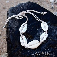 Waikiki Cowry Silver Hawaiian Necklace / Bracelet