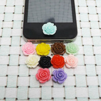 Romantic Fashion Fresh Rose Flower DIY Home Button Sticker for Apple Products iPhone 3,4/4s,5,ipad 2,3,4,iPod itouch
