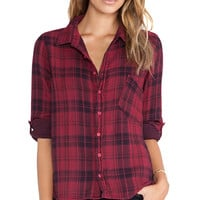 CP SHADES Jay Plaid Shirt in Red