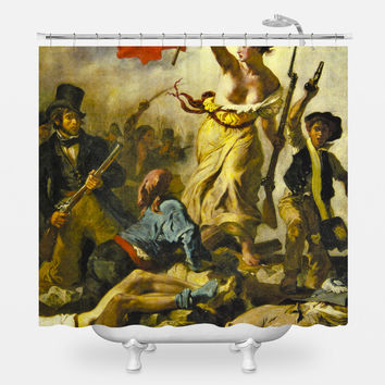 Liberty On The Barricades Shower Curtain