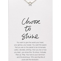 Women's Dogeared 'Danielle LaPorte Truthbombs - Choose to Shine' Necklace
