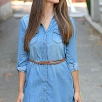 Stress Less Denim Tunic Dress