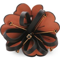 MARNI - Leather flower brooch | Selfridges.com