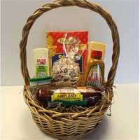 Sausage And Cheese Small Gift Basket - Gourmet Foods