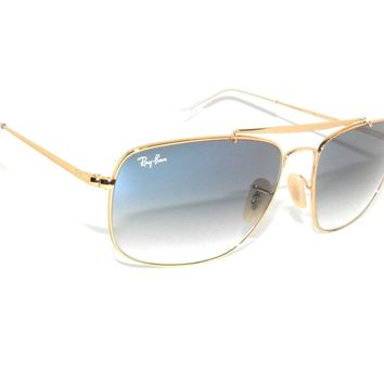 RAY BAN SunglaSSes 3560 GOLD/BLUE GRADIENT 001/3F Rayban *THE COLONEL*