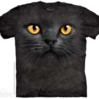 Big Face Black Cat T-Shirt